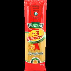 Pâtes spaghetti cuisson rapide PANZANI, 500g