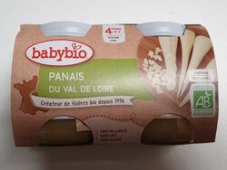 POT PANAIS 4M BABYBIO 2X130G