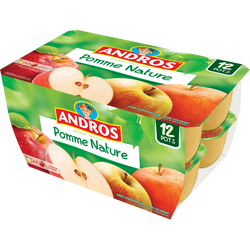 Dessert fruitier pomme nature ANDROS, 12x100g