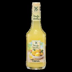 Sirop de citron MOULIN DE VALDONNE, bouteille en verre de 70cl