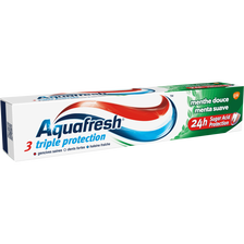 Dentifrice triple protection menthe douce AQUAFRESH, tube de 75ml