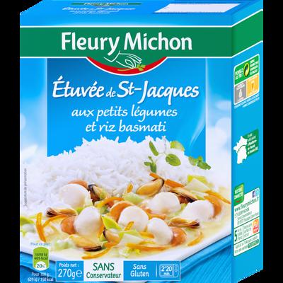 Etuvée de Saint Jacques aux légumes et riz basmati FLEURY MICHON, 270g