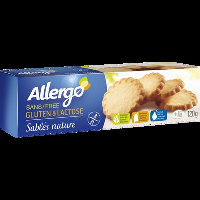 Biscuits sablés sans gluten ALLERGO, 120g