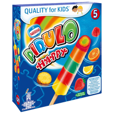 NESTLE, glaces à l'eau Pirulo happy, 5 bâtonnets de 70g, 350g
