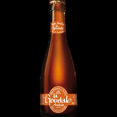 Bière ambrée LA GOUDALE, 7,2°, 33cl