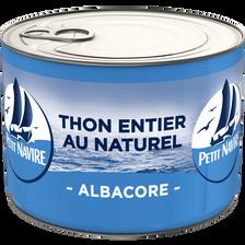 Petit Navire Thon Albacore Au Naturel Démarche Responsable  Boîte 1/2280g