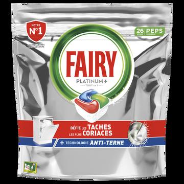 Fairy Nettoyant Lave-vaisselle Platinum + Original Taille S Fairy X26 Capsules