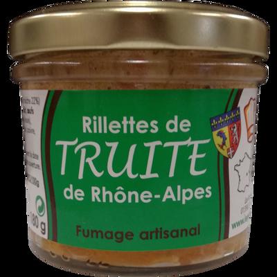 Rillettes de truite de Rhône Alpes fumée, bocal 90g