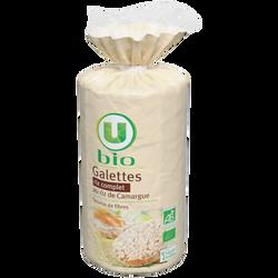Galettes de riz complet au riz de Camargue U BIO, paquet de 130g