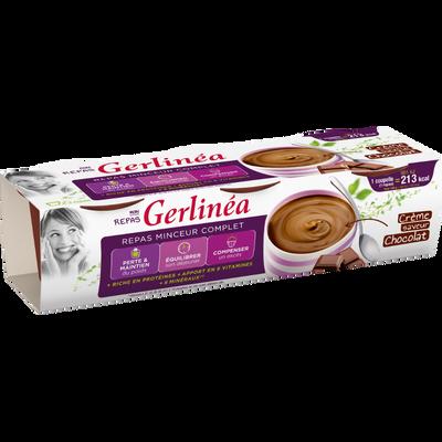 Repas minceur crème chocolat GERLINEA, 3x210g