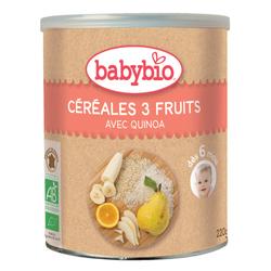 Céréales 3 Fruits avec quinoa BABYBIO dès 6 mois 220g
