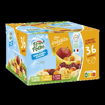 Materne Pom'potes Sans Sucre Ajoutés Pomme/pomme Mirabelle/pomme Cerise/pomme Banane 36x90g
