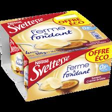 Nestlé Spécialité Laitière Crème Brûlée Ferme Et Fondant Chocolat Sveltesse,4x125g