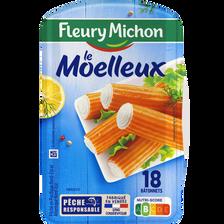 Bâtonnets moelleux saveur crabe FLEURY MICHON, boîte de 18, 288g