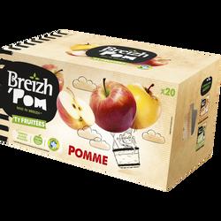 Compote de fruits allégée en sucre pomme BREIZH'POM, 20x90g
