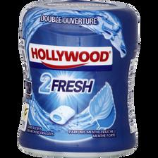 Chewing gums sans sucre menthe forte-menthe fraîche 2Fresh HOLLYWOOD,40 dragées, 88g