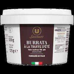 Burrata à la truffe d'été (tuber aestivum Vitt. 2,9%) aromatisée 21%mgU SAVEUR pot 125g