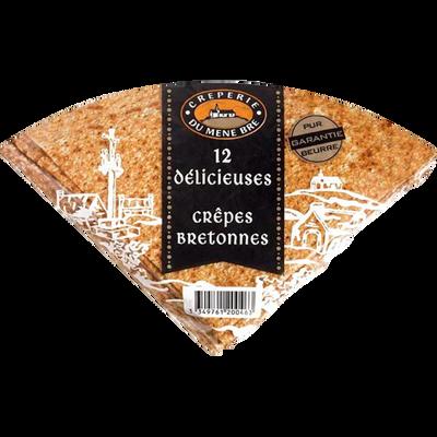 Crêpes bretonnes délicieuses MEME BRE, sachet de 12, 360g