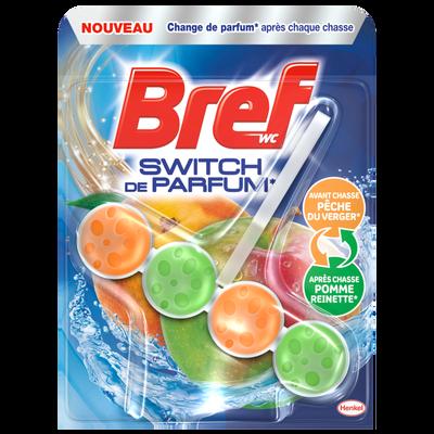 Bloc cuvette switch de parfum pomme reinette et pêche du verger BREFWC