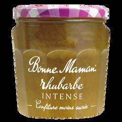 Confiture rhubarbe intense BONNE MAMAN, pot de 335g