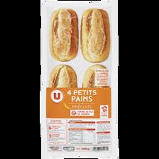 Mini pains précuits U, 4 pièces, 300g