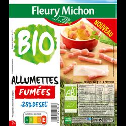Allumettes fumées bio -25% de sel FLEURY MICHON 2x60g 120g