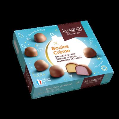 Boules de chocolat au lait fourrées crème non rangées JACQUOT, boite de 1kg