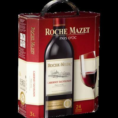 Vin rouge IGP de pays d'Oc Cabernet Sauvignon ROCHE MAZET, fontaine àvin de 3l