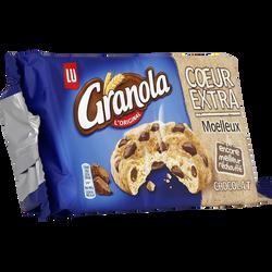 Cookie au coeur extra moelleux et au chocolat Lu GRANOLA, paquet de 182g