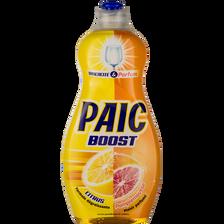 Liquide vaisselle citron/pamplemouse PAIC BOOST, flacon 500ml