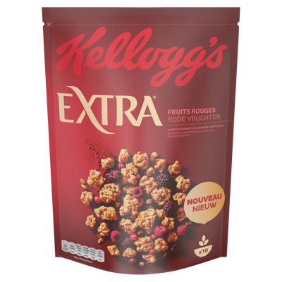 Céréales extra fruits rouges KELLOGG'S, 450g