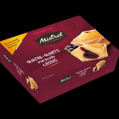 Quatre-quarts pur beurre cassis MISTRAL, boîte 640g
