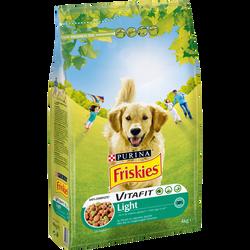 Croquettes pour chien light au poulet et légumes Vitafit FRISKIES,4kg