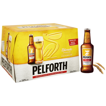 Pelforth Bière Blonde Pelforth, 5,8°, 20x25cl