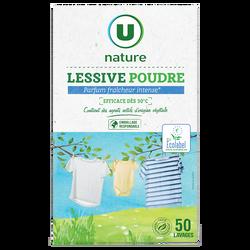 Lessive poudre fraîcheur intense U NATURE x50 lavages