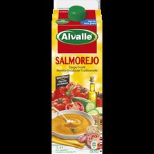 Soupe froide de légumes Salmorejo, ALVALLE, brique de 1litre