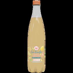 Eau fruité petillante au jus d'agrumes U 1 litres