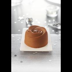 Entremets chocolat caramel décongelé, 2 pièces, 170g