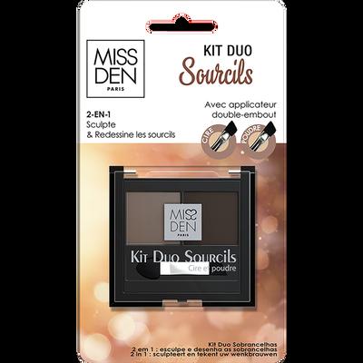 Kit duo sourcil brunette, MISS DEN 537