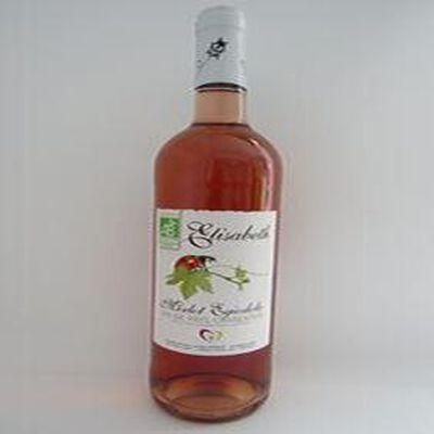 Vin de pays charentais IGP Merlot Egiodola rosé, bio, blle 75cl