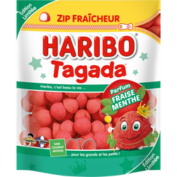 Bonbon à mâcher tagada menthe HARIBO, 200g