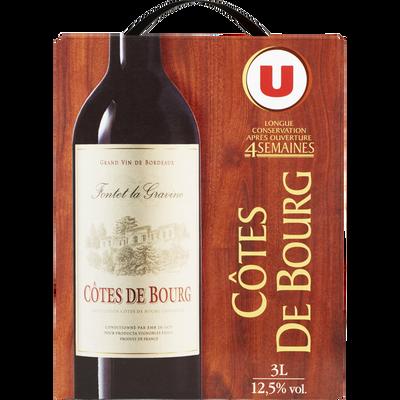 Vin rouge AOP Côtes de Bourg Fontet La Gravine U, fontaine à vin de 3l