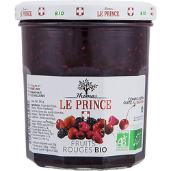Confiture fruit rouge BIO, THOMAS LE PRINCE, pot en verre de 340g