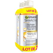 Garnier Eau Micellaire Biphase Skin Active Garnier, 2 Flacons De 400ml