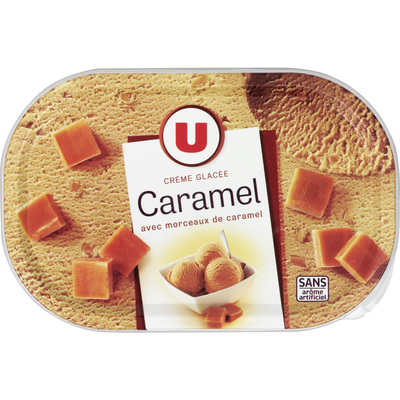 Crème glacée caramel U, 500g