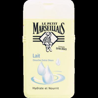 Gel douche extra doux au lait LE PETIT MARSEILLAIS, flacon de 250ml