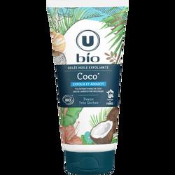 Gelée huile exfoliante au coco U BIO, tube de 200ml