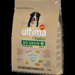Croquettes no grain pour chien médium maxi à la dinde ULTIMA NATURE, 2,7kg