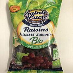 Raisins Bruns Sultanine 125 g