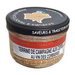 Terrine de Campagne aux Cepes et Vin de Corbieres, Bocal de 190g, SAVEURS & TRADITION DU MIDI